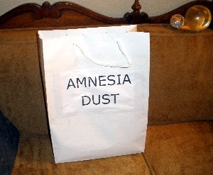 Hypnotic Multi-Purpose Amnesia Dust. Don't leave home without it!